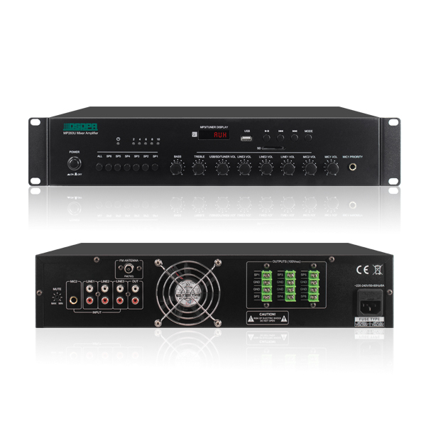 6 Zones Mixer Amplifier With USB/SD/FM