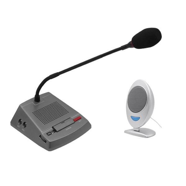 Professional Window Intercom Microphone for Bank Hospital Station