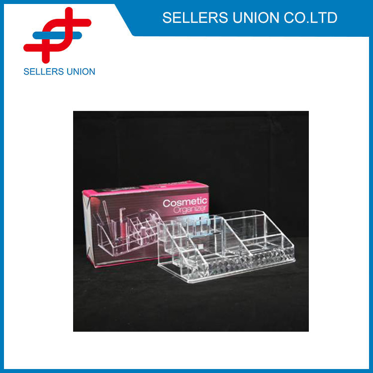 11 Spaces Acrylic Makeup Organizer Tray