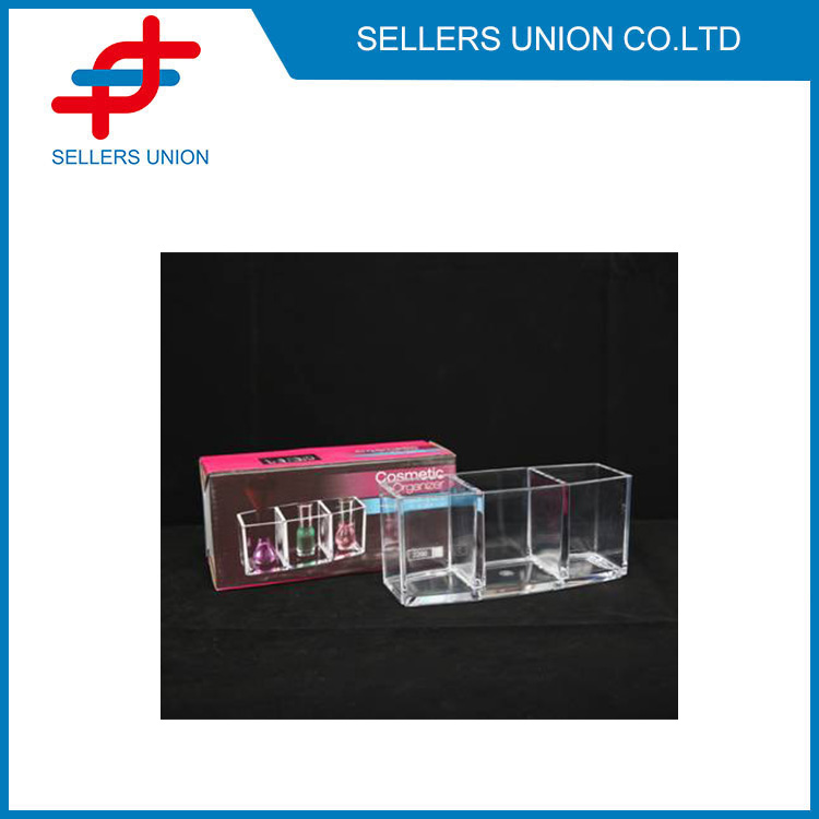 3 cells Brush and Nail Polish Holder