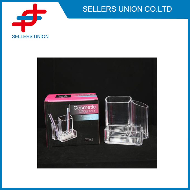 3 parts Transparent Makeup and Brush Holder