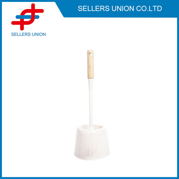 Compact Plastic Toilet Bowl Brush and Holder