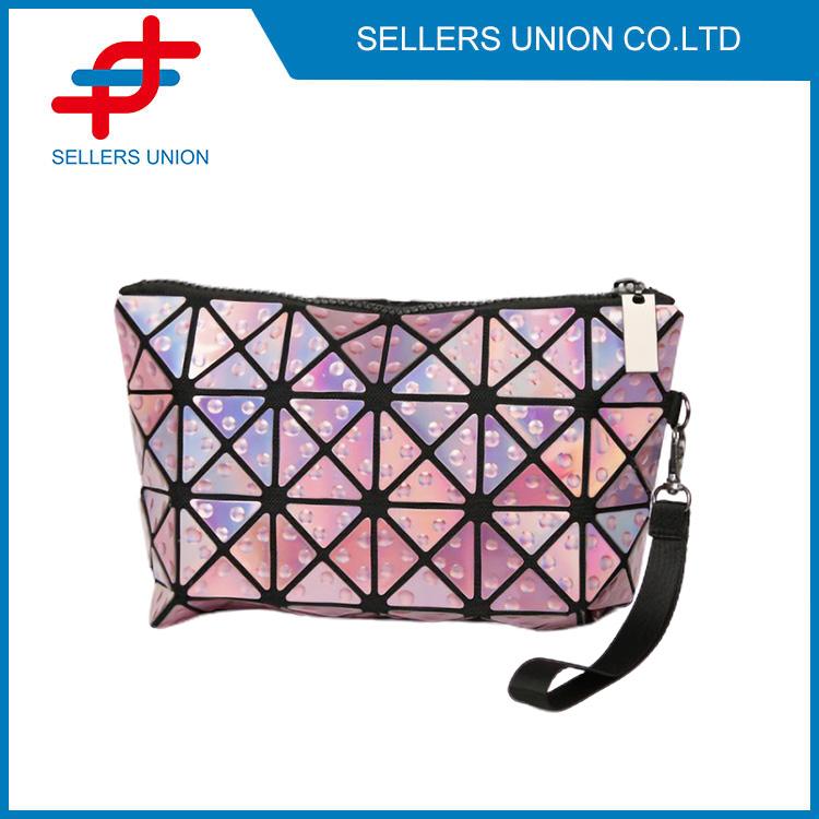 Geometric Cork Clutch Beauty Bag