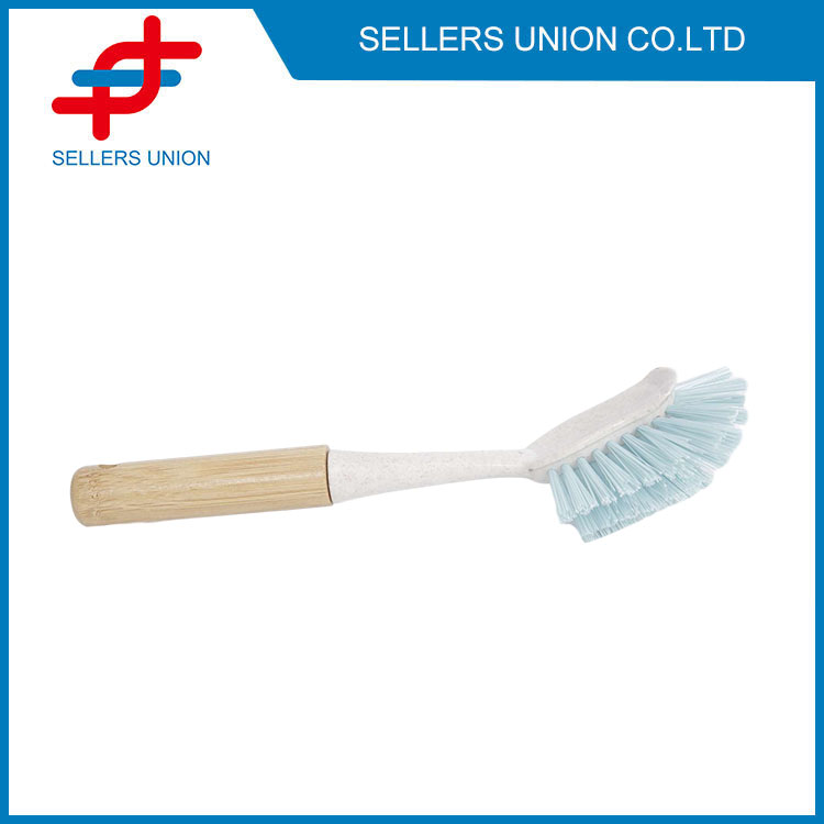 Kitchen Cleaning Brush With Wooden Handle-(2070-1)