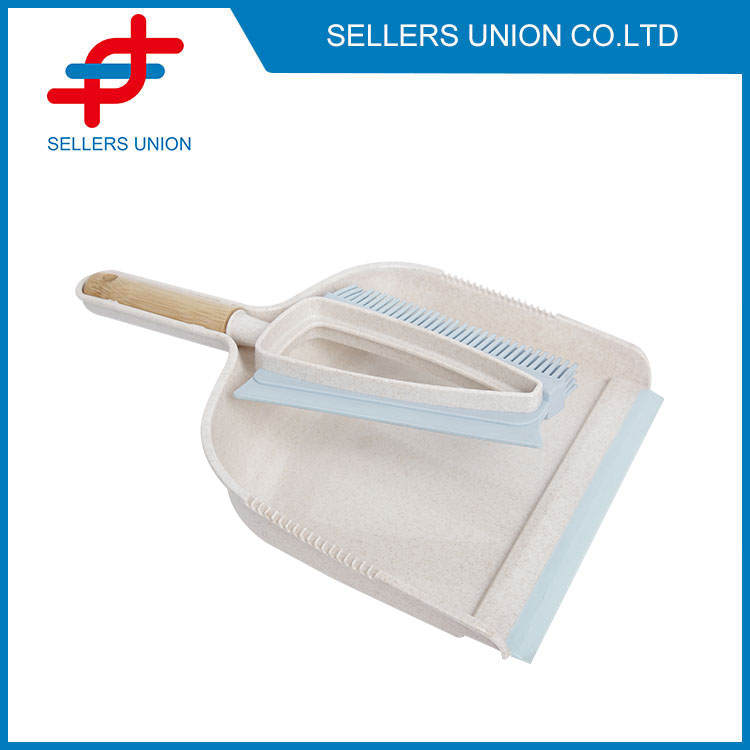 Soft Bristlh Scrubber With Duse Brustpan Set - (3035ï¼ ‰