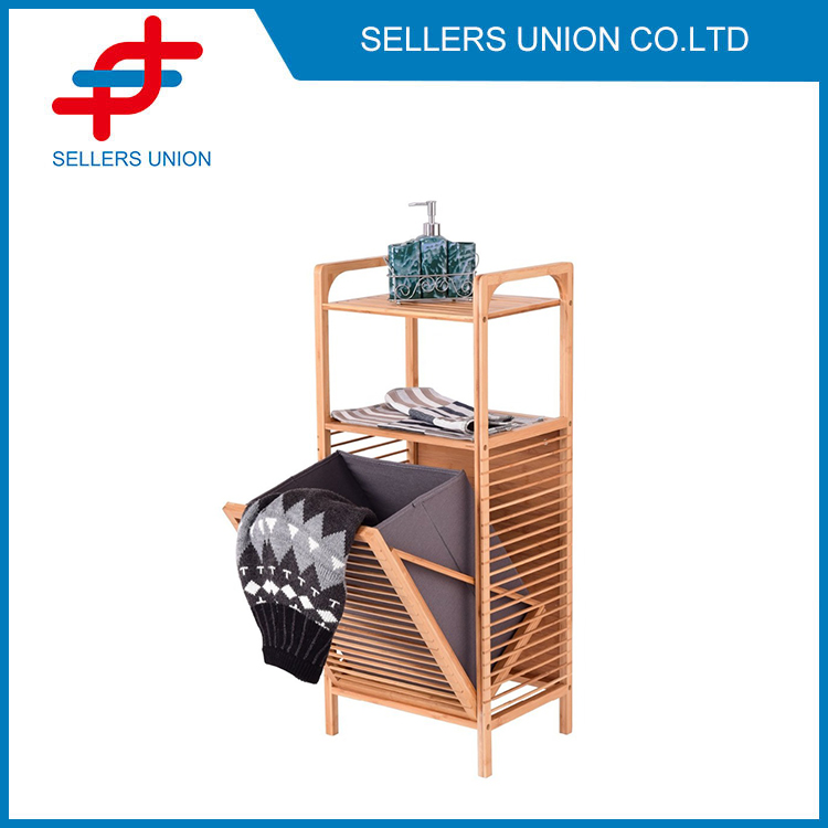Tilt out Bamboo Laundry Hamper