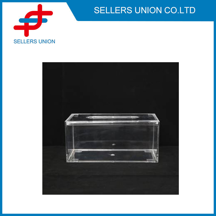 Transparentní obdélníkový úložný box na ubrousky