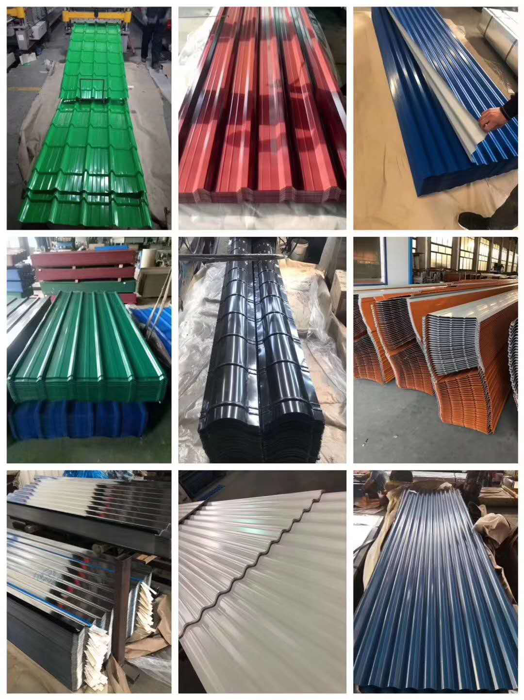 PE PPGI Corrugated Roofing Sheets