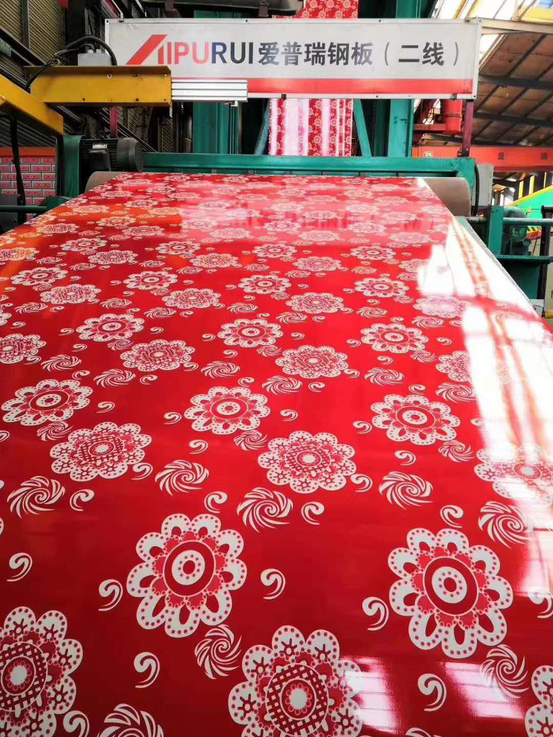 Prepainted Flower Pattern Galvanized Steel