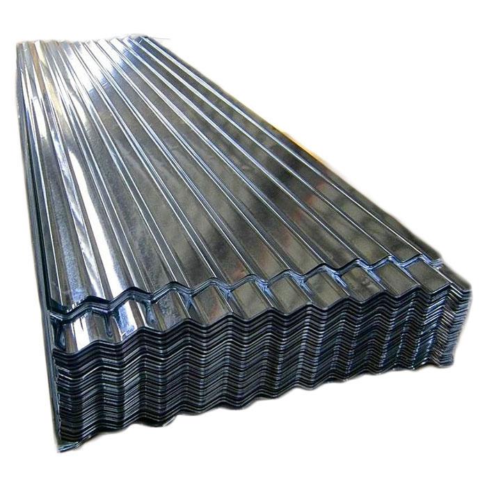 Lamiera di acciaio ondulata con rivestimento in zinco