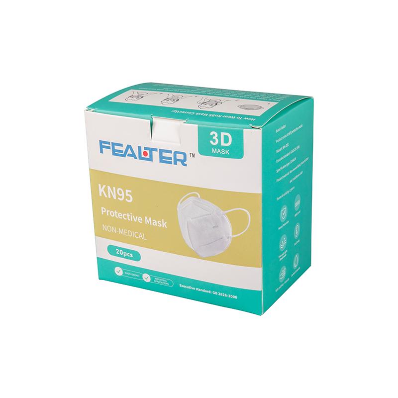 KN95 Bílé jednorázové obličejové masky s krabicí