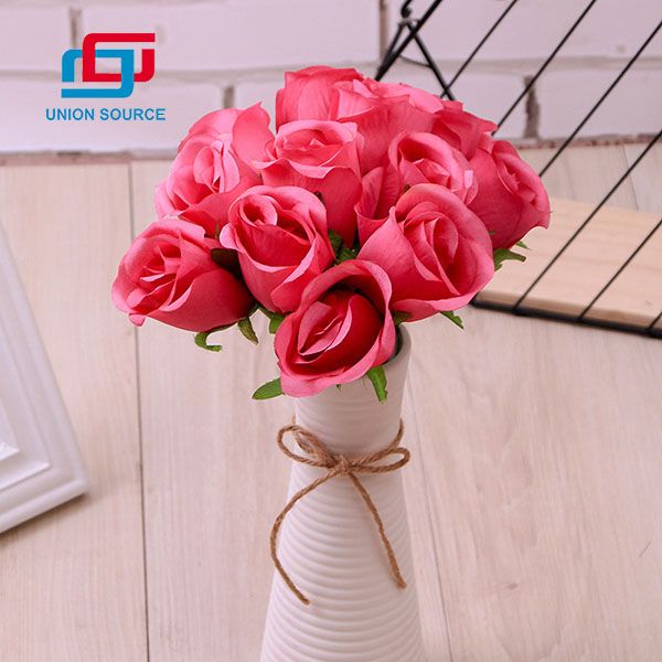12 Heads Artificial Curled Rose Flowers Good Quality For Home And Wedding Decoration