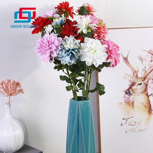 2 Heads Top Sale Good Quality Dahlia Flowers Simulation For Home Decoration