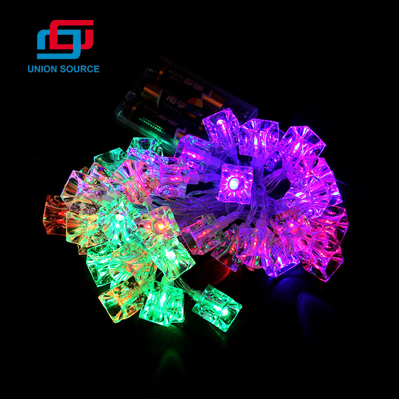 20L LED Garland Light With Transparent Square Heads