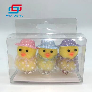 3 Packs Handmade Happy Easter Plush Chick Toys With Hats