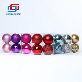 4pcs 80mm Christmas Tree Baubles Shatterproof Multi-color Ball
