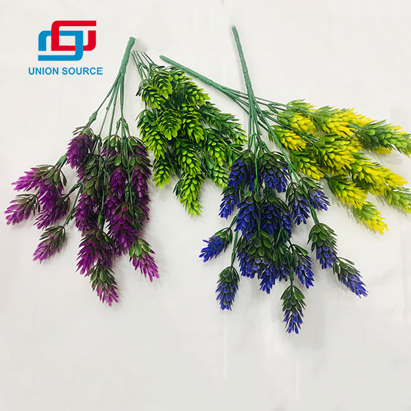 5 Heads Pine Cones Matched Grasses Artificial Plants For Home Decoration