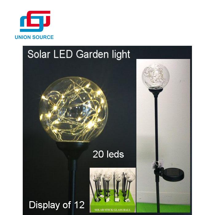 Luz solar LED de la bola del jardín impermeable del ahorro de energía vendedor caliente del Amazonas
