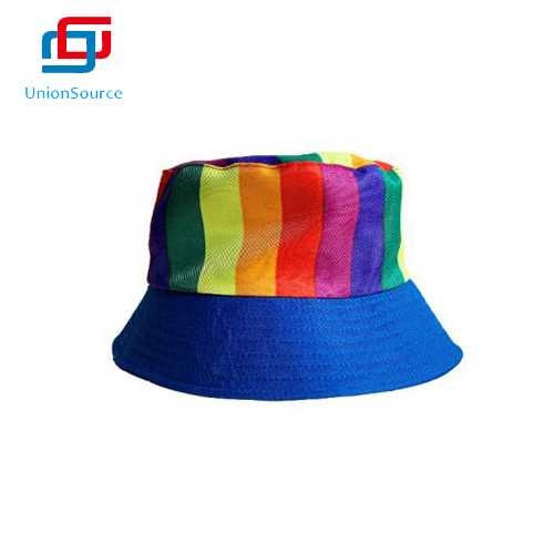 Autumn Winter Shade Rainbow Fisherman Hat