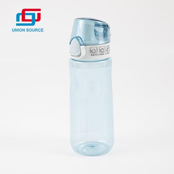 Botella de agua deportiva de plástico portátil sin BPA