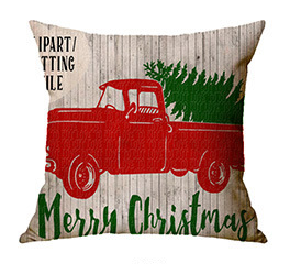 Car Pattern Design Christmas Pillowcase Home Decoration