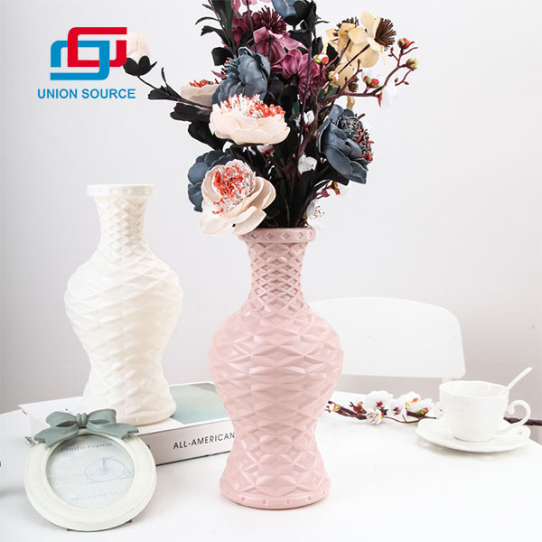 Material plástico de los floreros de la venta superior del precio más barato para la decoración y el uso de la boda