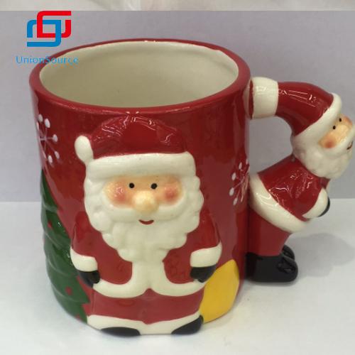 ປະເທດຈີນວັນຄຣິດສະມາດ 3d Ceramic Mug ກາເຟ Mug ກາເຟ Mugs ລະດູຫນາວ snowman ສົ່ງເສີມການຂາຍ