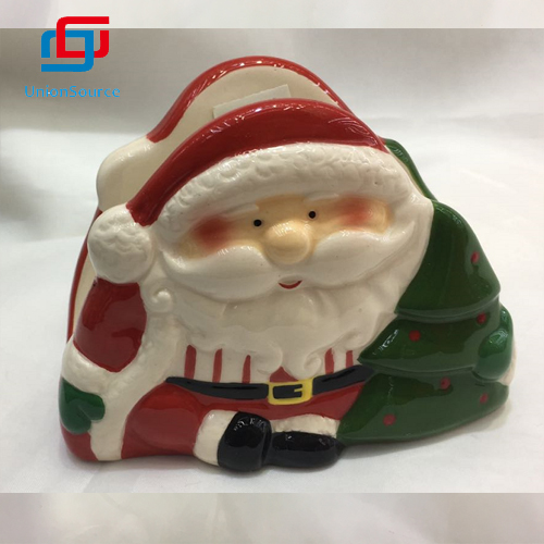China Simple Santa Design Ceramics Napkin Holders  Restaurant Table Decoration Home Warm Decor