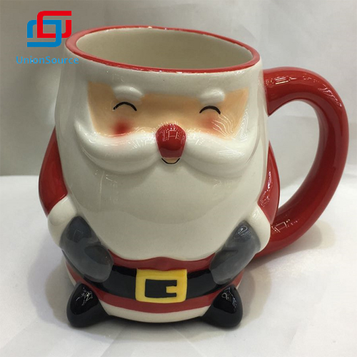 Karácsonyi kerámia csészék piros kávéscsésze mikulás mintás bögre