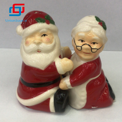 Christmas Ceramics Salt And Pepper Shaker Bottles Multi Function Dressing Spice