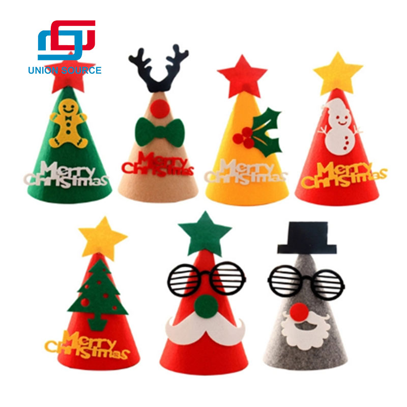 Christmas Supplies Non-woven Fabric Hat For Kindergarten And Supermarket