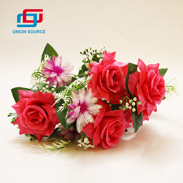 Competitive Price 12 Branches 7 Heads Simulation Flowers For Home Decoration