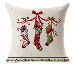 Competitive Price Christmas Style Soft Pillowcase Home Ornament