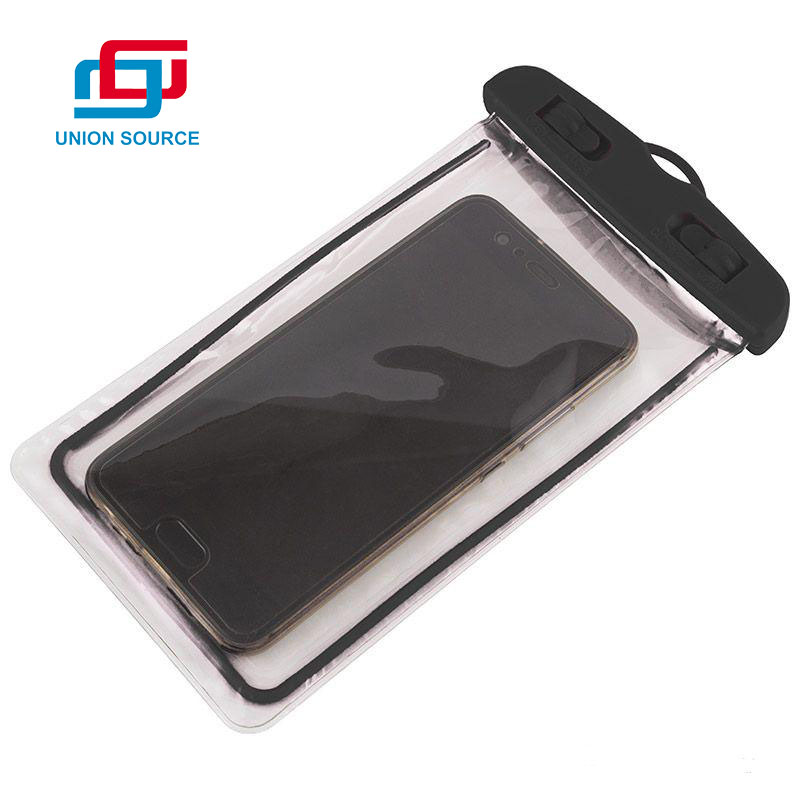 Custom Logo Transparent PVC Waterproof Cell Phone Bag With Armband