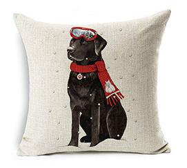 Cute Dog Design Christmas Pillowcase Home Decoration