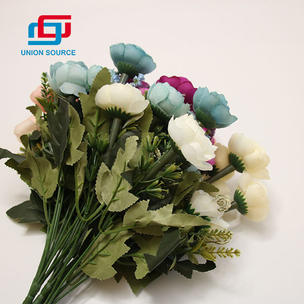 Decorative Flowers 6 Heads Tea Bud Artificial Bouquet For Home Decoration