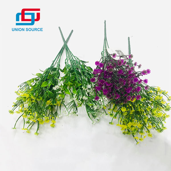 Decorative Usage Artificial Matched Grasses Gypsophila Plants For Home