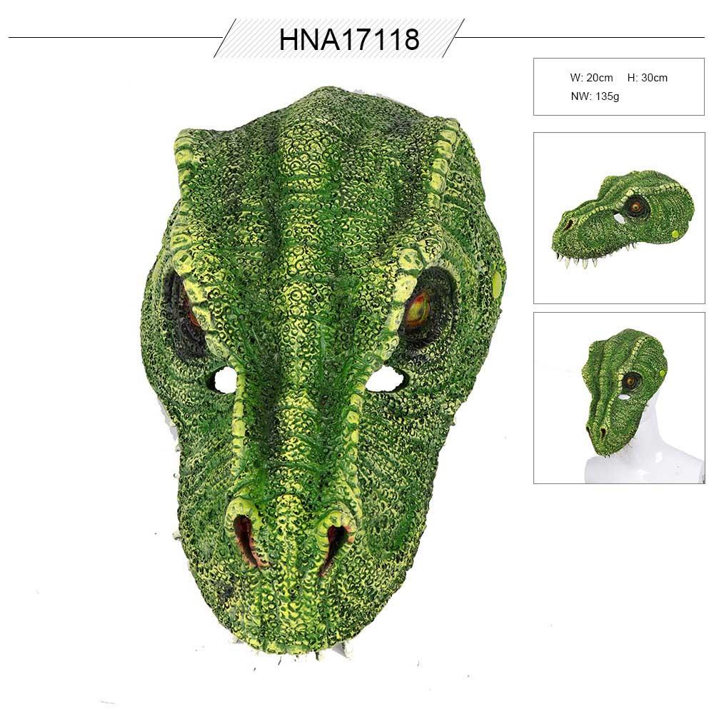 ডাইনোসর আকৃতির কার্নিভাল মুখোশটি তৈরি করেছে চীনে