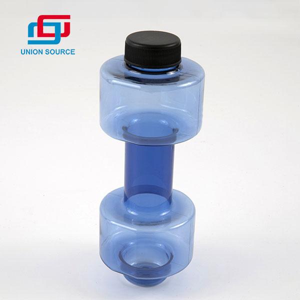 Botella de agua duradera para gimnasio con diseño de mancuernas