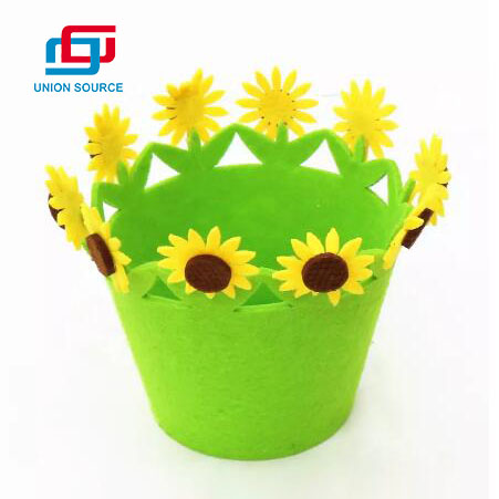 Easter Felt Basket With Sunflower