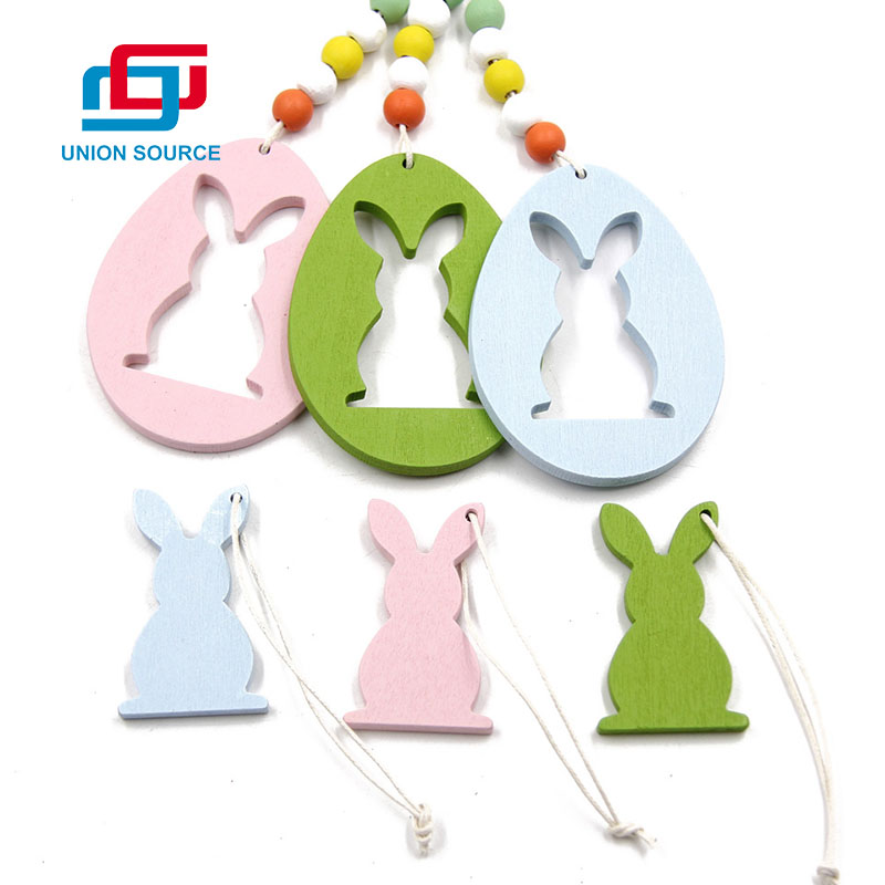 Easter Wooden Hanging Decoration With Rabbit Shape