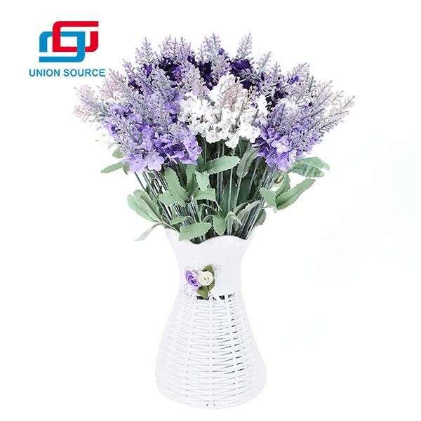 Gyárilag testre szabott 10 fej levendula virág magas szimuláció otthoni és kerti dekorációhoz