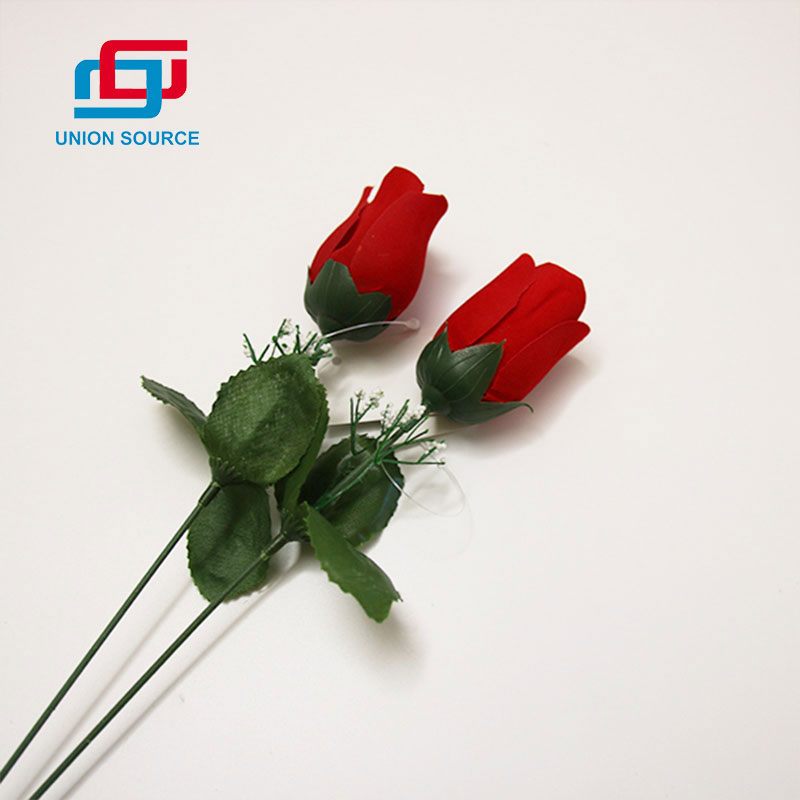 Factory Customized Simulation Single Twig Flowers For Home And Garden Decoration