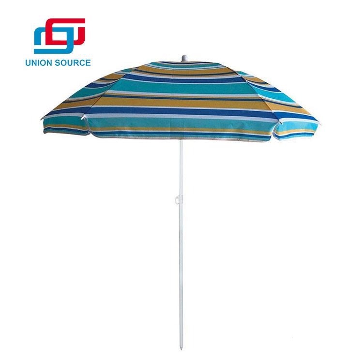 Sombrilla de playa al aire libre personalizada de suministro directo de fábrica