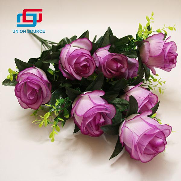 Gyári ár 9 fej művirág dekoratív csokor otthoni és esküvői használatra