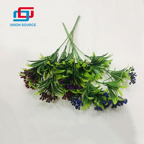 Factory Wholesale Price High Simulation 5 Heads Fig Grasses For Decoration
