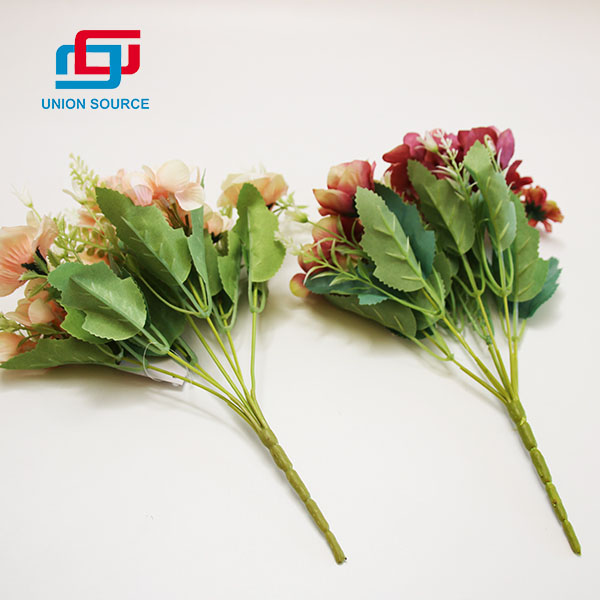 Fashion Style Oil Painting Rose Ball Group 7 Branches Bouquet For Home Decoration