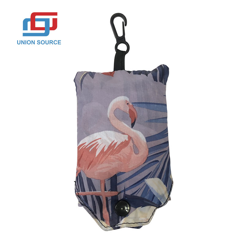 Folded Polyester Shopping Bag With Small Shape