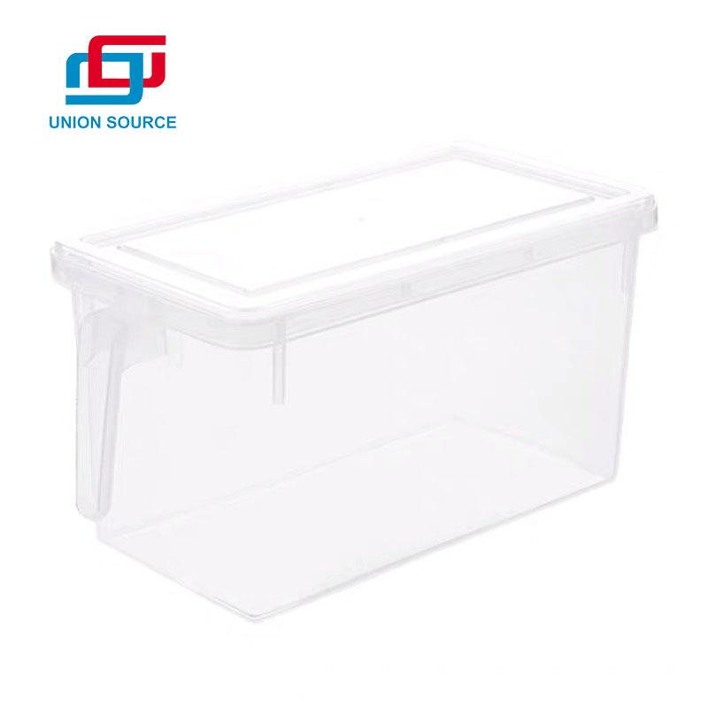 Caja de almacenamiento para nevera con tapa