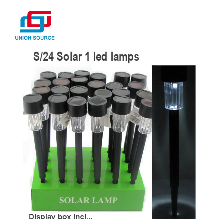 Lámpara solar de acero inoxidable impermeable para jardín, iluminación LED para paisaje